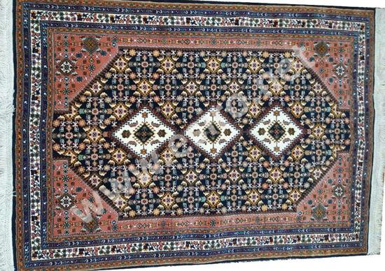 Iranian Woolen Lacquer Handmade 3 m Carpet Front Side