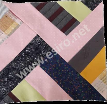Black Magenta Patchwork Tablecloth
